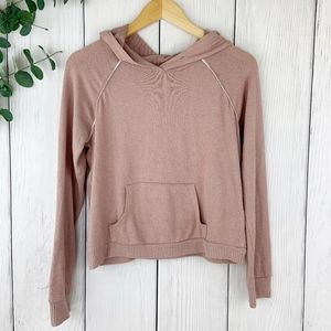 Dusty Pink Hooded Pullover